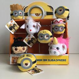 LOT of 8 Despicable Me collectible Mini Plush Figures - 3 in