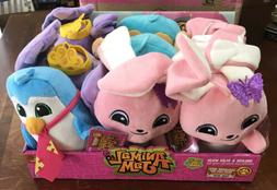 Lot Of 9 Animal Jam Plush Toys In Display Box With Game Code