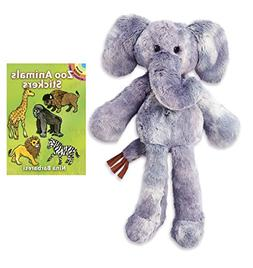 """Loungerz 16"""" Elephant Plush with Sticker Book by Nat & Jules"""