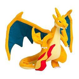 Super Fire Dragon Plush Animal Stuffed Doll Toy Orange Fire