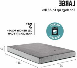 Barkbox Memory Foam Platform Dog Bed Plush Orthopedic Joint