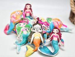 Mermaid Keychain Plush Doll Pendant Bag Car Key Ring Cartoon