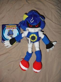 "metal sonic the hedgehog boom TOMY 8"" plush toy figure stuff"