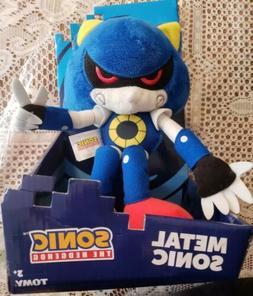 """Metal Sonic the Hedgehog Plush 12"""" Tomy"""