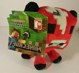 "Mojang Minecraft Mooshroom Red Bull Cow 6"" Plush Toy 2013 ne"