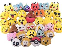 Swity Home 36 Pack Mini Emoji Plush Toy, Emoticon Toy, Mini