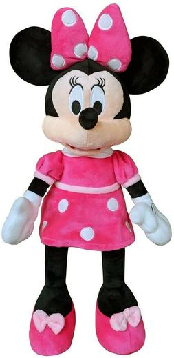 Disney Minnie Mouse Plush Toy in Pink Dress 21'' FREE SHIPPI