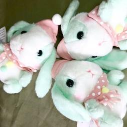 AMUSE - Mint Green Snow Bunny Rabbit Hat Buttons Easter Plus