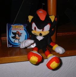 "Modern SHADOW Sonic the Hedgehog 8"" plush TOMY USA seller w/"