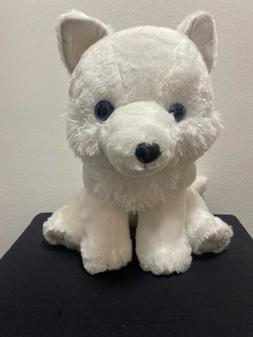 "Mofu Wolf Big plush grey Ear 15.7"" White Amuse"