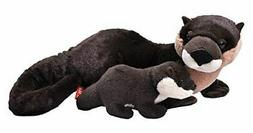 """Wild Republic Mom and Baby River Otter Plush Toy 14"""" Long"""