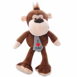 "Monkey Plush Stuffed Animals Kids Gifts Toys Brown 6"" I Love"