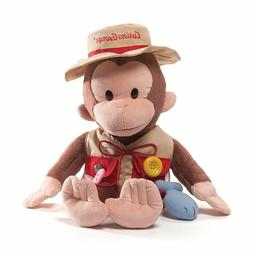 "GUND MONKEY - 16"" CURIOUS GEORGE FISHERMAN - TEACH ME PLUSH"