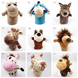 Mouth Open Plush Hand Puppets Gift Kids Educational Toy Pres