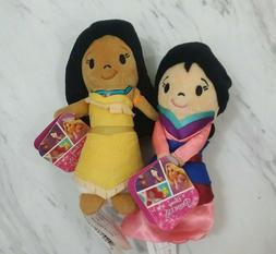 Disney Princess Mulan & Pocahontas Mini Soft Plush Doll Smal