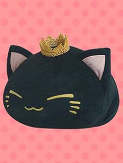 FuRyu Nemuneko 15'' Fluffy Big Cat Plush With Crown - Bl