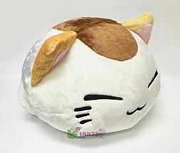 FuRyu Nemuneko Cute and Fluffy Cat Plush 13'' with Little Mo