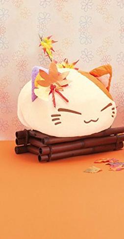 FuRyu Nemuneko Cute and Fluffy Cat Plush 13'' with Autumn Le