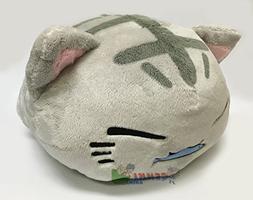 FuRyu Nemuneko Cute and Fluffy Cat Plush 15'' Eating Fis