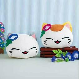 Nemuneko Japanese Pattern Plush FuRyu Happy Cat Ears Flower