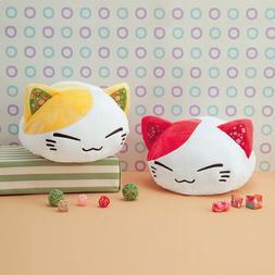 Nemuneko Japanese Pattern Plush FuRyu White Cat Yellow Ears