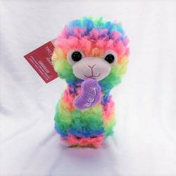 "Neon Rainbow Llama Plush 7"" Stuffed Animal New Easter"