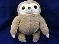 "NEW 16"" Sloth Brown Plush Doll Toy AMUSE Collection Round"