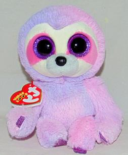 - New! 2019 Release Ty Beanie Boos DREAMY Pink/Purple Sloth