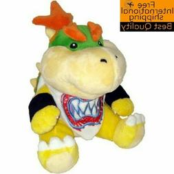 "New 7"" Baby Bowser Jr Koopa Plush Toy Super Mario Brother Fi"