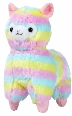 "NEW 7"" Cute Kawaii AMUSE Rainbow Alpacasso Alpaca Llama Soft"