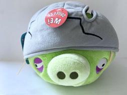"New Angry Birds Cracked Helmet Corporal Pig 8"" Plush Stuff"