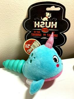 NEW Hush Plush Baby Shark Narwhal Dog Squeak Squeaky Toy Tur