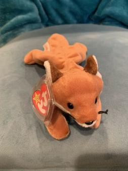 NEW Ty Beanie Baby Sly The Fox 1996 PVC Plush Toy Animal - M