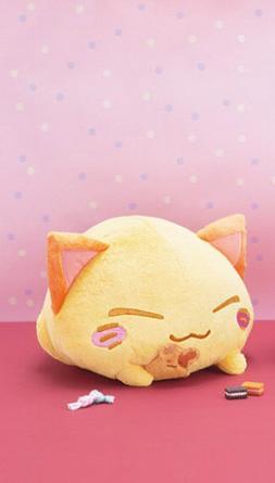NEW FuRyu Brown Nemuneko Biscuit Cat Large DX Plush 33cm AMU