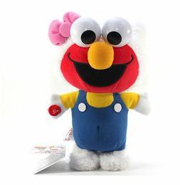 """New Hello Kitty x Sesame Street 9"""" Kitty Elmo Walking Plush"""