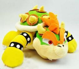 "New Mario Bros Series 10"" King Bowser Koopa Plush Toy Doll S"