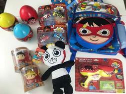 NEW MEGA Ryans World Toy Lot Backpack Racers Vinyl Figure Bu