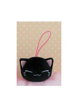 NEW FuRyu Nemuneko Black Cat Keychain Plush Charm 8cm AMU-PR