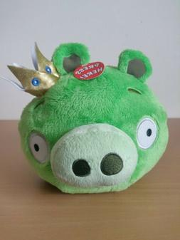 NEW Angry Birds Plush King Pig Crown Stuffed Animal Bird Toy