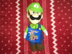 NEW Sanei Super Mario Party 5 LUIGI Mario Plush Nintendo Toy