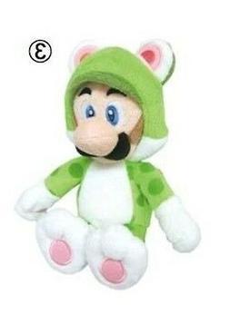 "REAL  Nintendo  10"" Cat Luigi Stuffed Plush Doll Toy from Su"