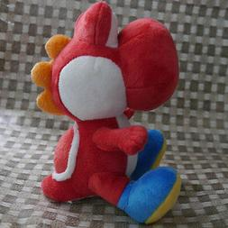 "Nintendo Super Mario Bros. sidekick Yoshi  6 1/2""  Red Plush"