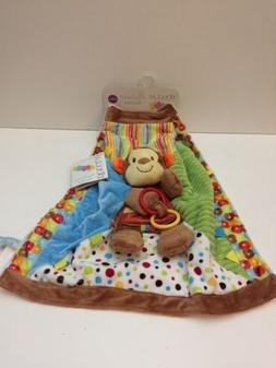 NWT Douglas Infant Plush Lovey Blanket W/Cute Monkey & Mirro