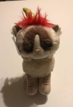 """NWT GUND Grumpy Cat Unicorn 5"""" Beanbag Plush 4053797"""