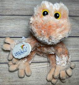"NWT Wishpets Lotus Orange Frog Plush Stuffed Animal 8"" Sof"