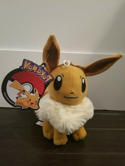 Official Licensed Pokemon Eevee Plush Stuffed Figure Doll To