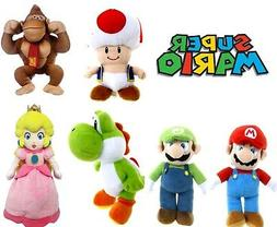 """OFFICIAL NEW 8"""" 12"""" 24"""" SUPER MARIO BROS PLUSH SOFT TOY NINT"""