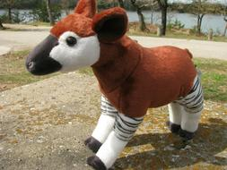 "OKAPI SOFT PLUSH stuffed TOY  12""  by  WILD REPUBLIC  Deer C"