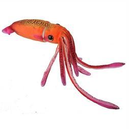 "Orange 29"" long Squid by Wild Republic toy stuffed animal pl"