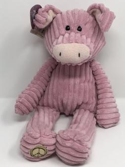 GUND Parlin Plush Pig Toy - 16 Inch - PEACE LOVE - NEW WITH